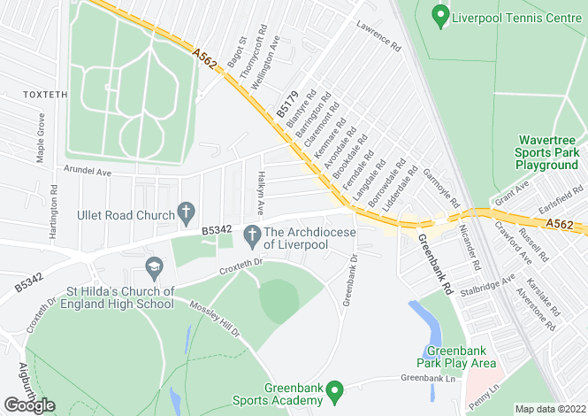 Map for Apartment  , Sefton Court Ullet Road, Liverpool, L17 2AB