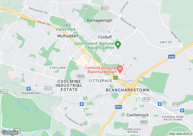 Map for 43 Springlawn Close, Blanchardstown, Dublin