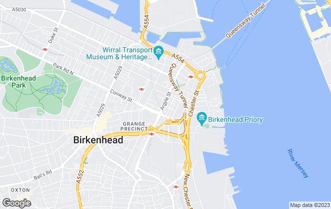 Map for Riverside, Riverside Mersey South