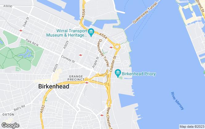 Map for Frobishers, Birkenhead