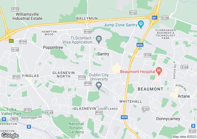 Map for 8 Oldtown Park, Santry,   Dublin 9