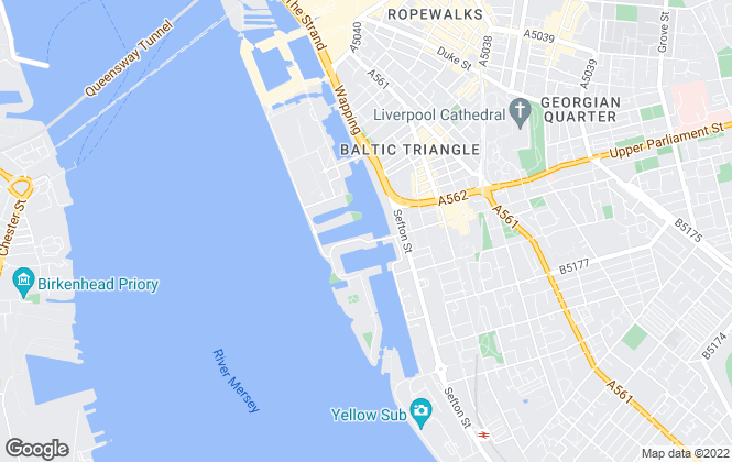 Map for Touchstone Residential Lettings, Liverpool