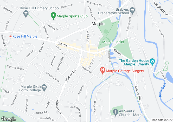 Map for Market Street, Marple, Stockport SK6