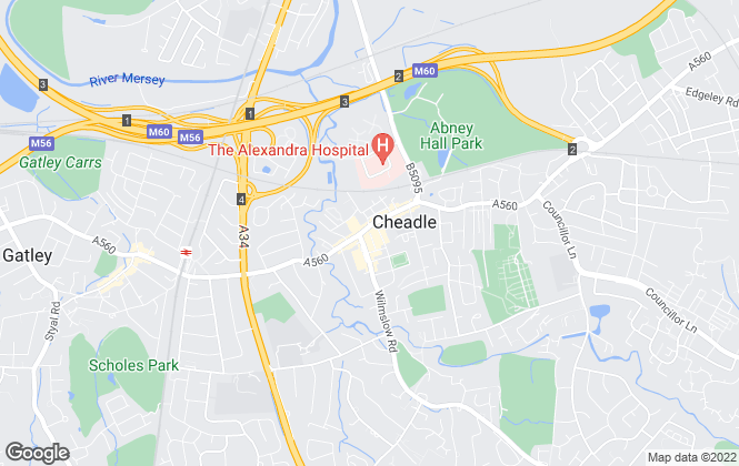 Map for Gascoigne Halman, Cheadle