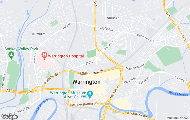Map for RAM Properties Limited, Warrington
