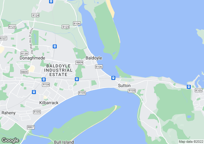 Map for 42 Strand Road, Sutton, Dublin 13