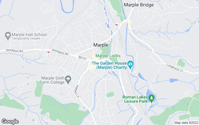 Map for Reeds Rains Lettings, Marple