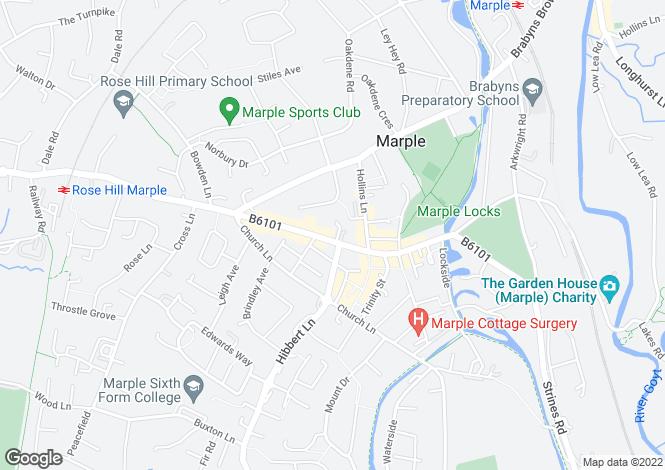 Map for Stockport Road, Marple, Stockport
