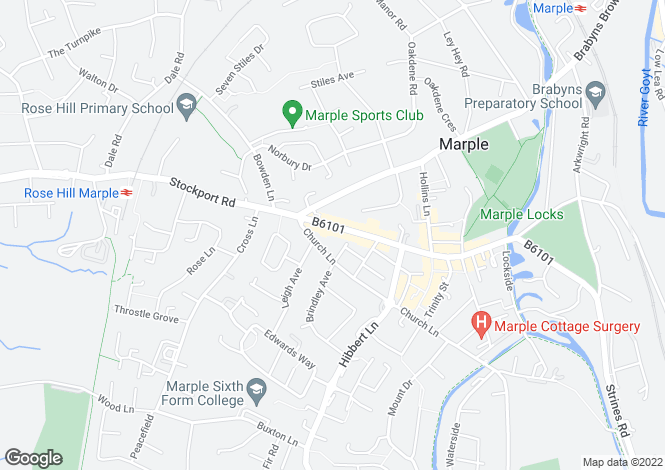 Map for Stockport Road, Stockport, Greater Manchester