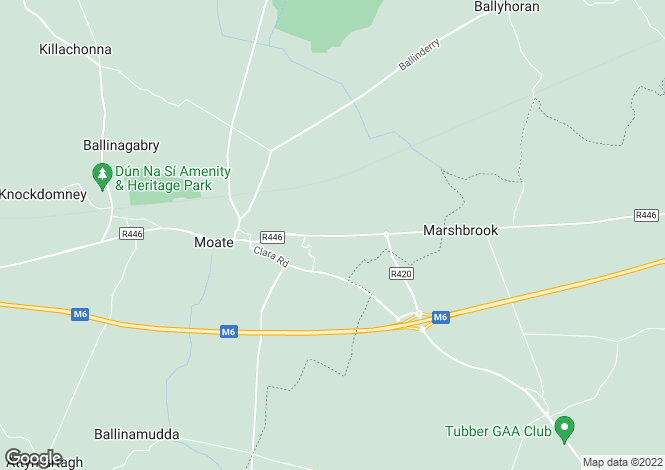Map for Site 1, Dublin Road, Moate, Co. Westmeath
