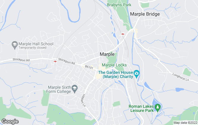 Map for Edward Mellor Ltd, Marple