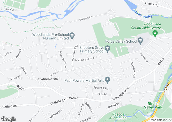 Map for Marchwood Avenue, Stannington, Sheffield, S6