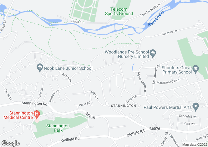 Map for Riber Close, Stannington, Sheffield