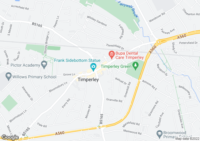 Map for Stockport Road, Altrincham, Cheshire