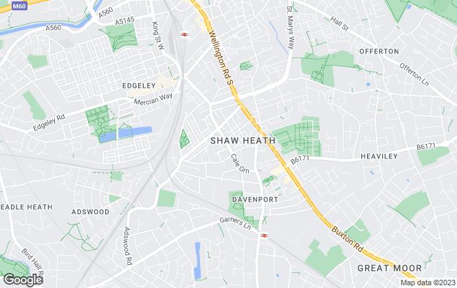 Map for Spencer Harvey, Stockport