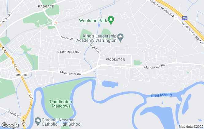 Map for Bridgfords, Woolston