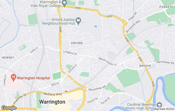 Map for 222 Estates Ltd, Warrington