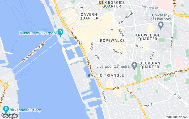 Map for The Cargo Building, Liverpool