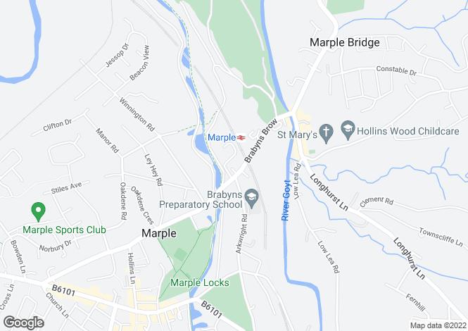 Map for Brabyns Brow, Marple, Stockport