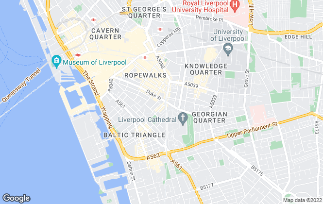 Map for Downing Students, The Arch