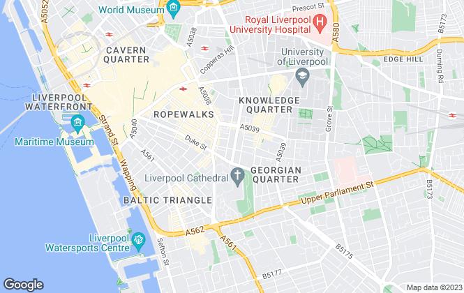 Map for marshall, Liverpool