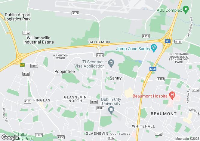 Map for 44 The Maieston, Santry Cross, Ballymun, Dublin 11