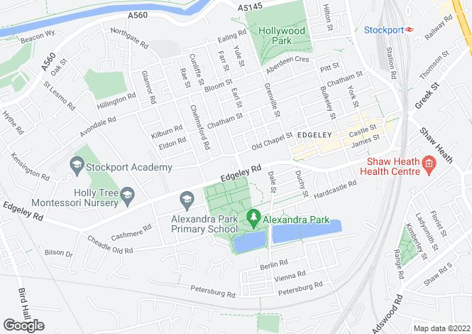 Map for Edgeley Road, Stockport, Greater Manchester