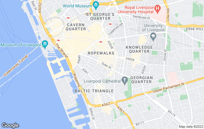 Map for Bluerow Homes, Liverpool