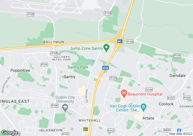 Map for 60 Santry Close, Santry, Dublin 9