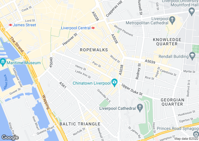 Map for 50A , Duke Street, Liverpool, L1 4JR