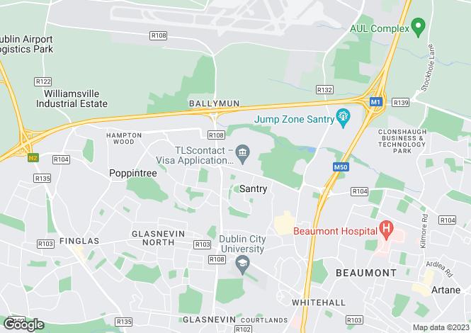 Map for Apt, 81 Geraldstown Wood, Santry, Dublin 9, D09 RF25