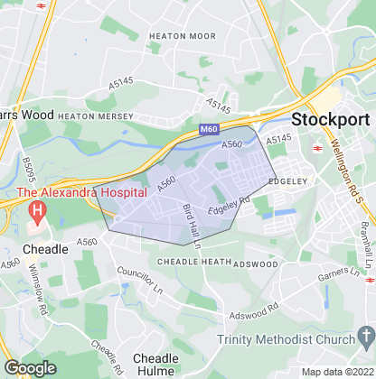 Map of property in Cheadle Heath