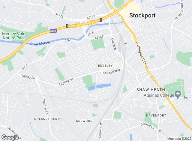 Map for Reeds Rains Lettings, Edgeley