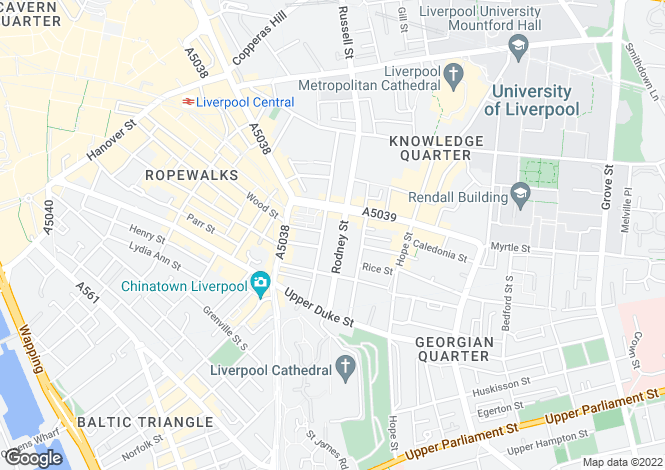 Map for Rodney Street, Liverpool 1