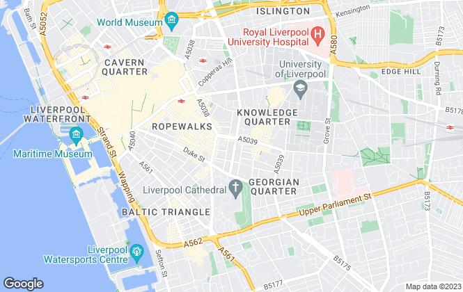 Map for Kodi Lucas Estates, Liverpool City