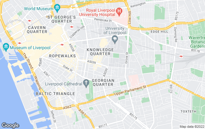 Map for Downing Property Services Ltd, Liverpool