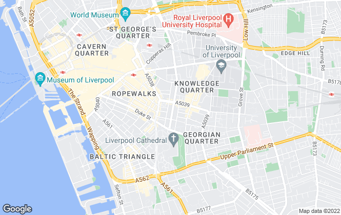 Map for Cuddly Bears, Liverpool