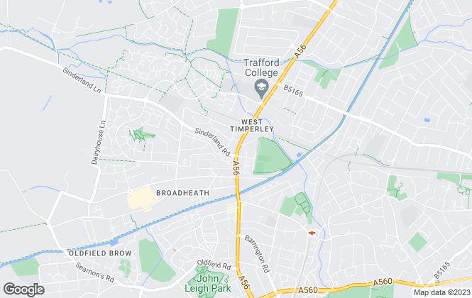 Map for Admove, Altrincham