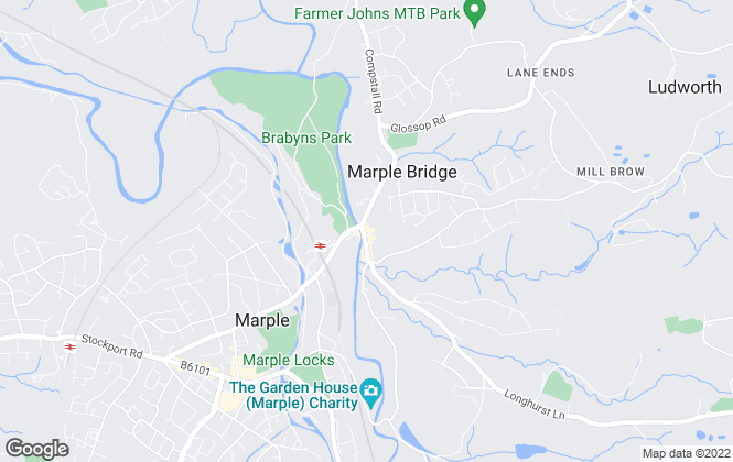 Map for Gascoigne Halman, Marple Bridge Lettings