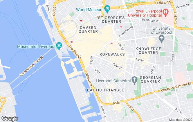 Map for Vermont Lettings, Liverpool