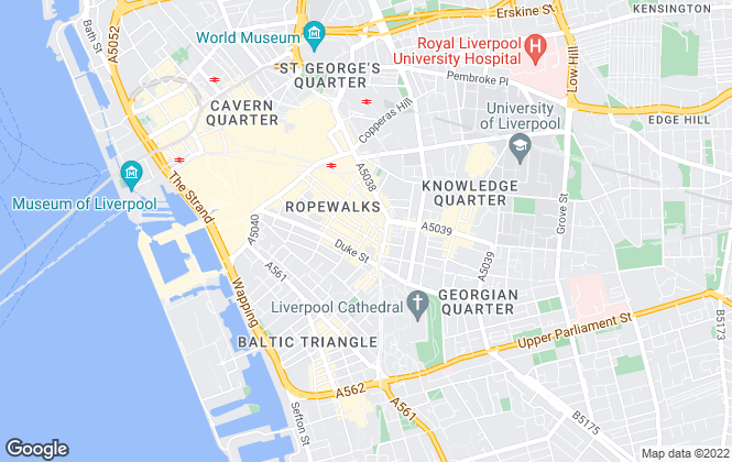 Map for Ideal Property Investments, Liverpool