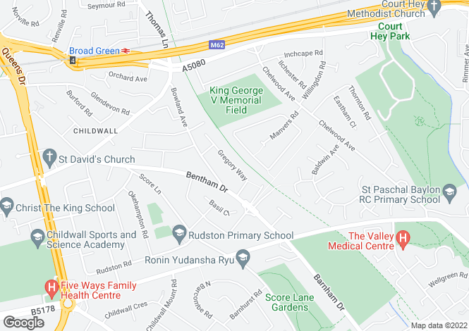 Map for Gregory Way, Liverpool, Merseyside, L16