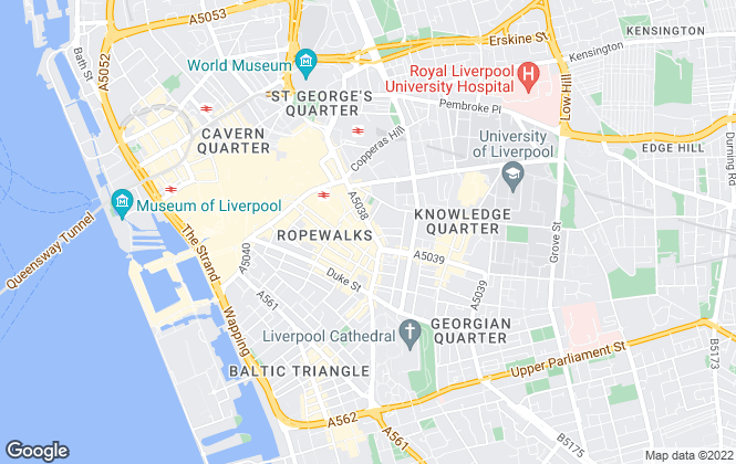 Map for Haus, Liverpool