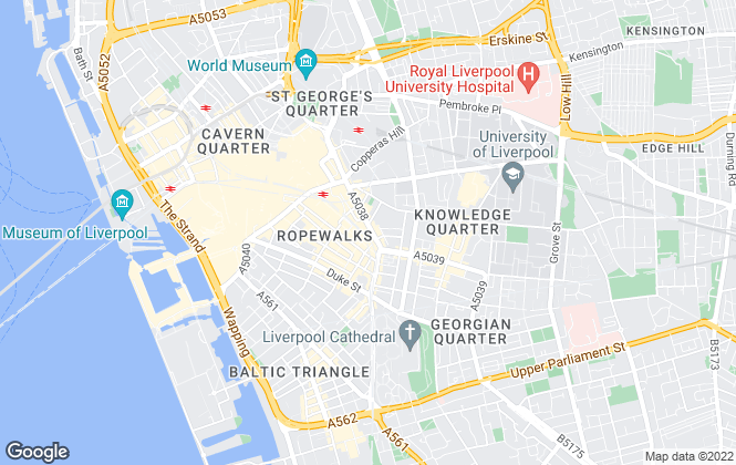 Map for Liverpool Student Lets, Liverpool Student Lettings