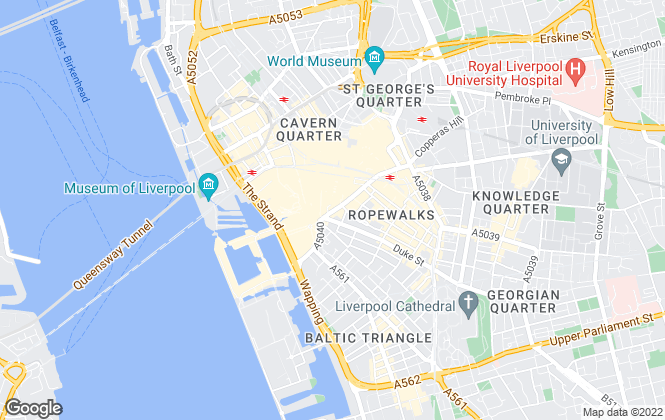 Map for Red Rooves Ltd, Liverpool