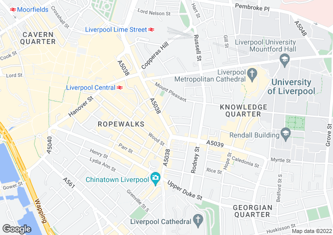 Map for Renshaw Street, Liverpool