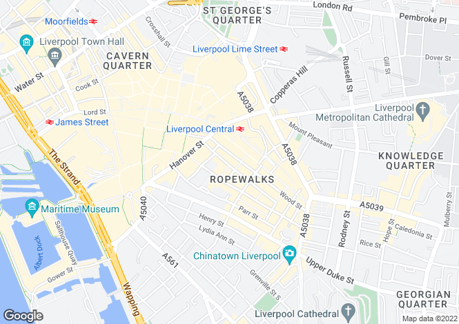 Map for Concert Steps, Seel Street / Concert Street, Liverpool, L1 4NR