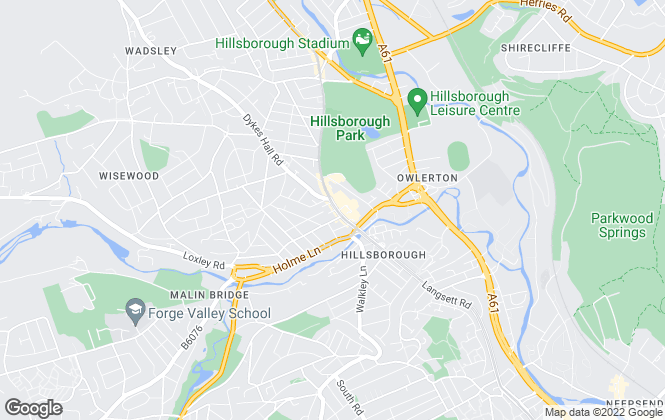 Map for Martin & Co, Sheffield Hillsborough