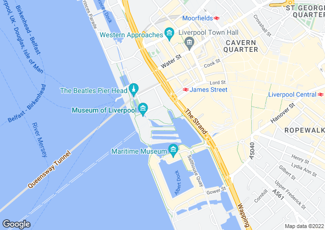 Map for 15, Mann Island, , Liverpool