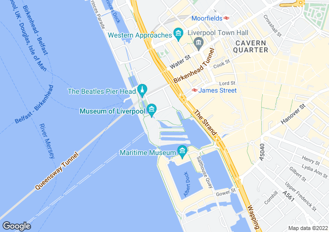 Map for 15, Mann Island, Liverpool,